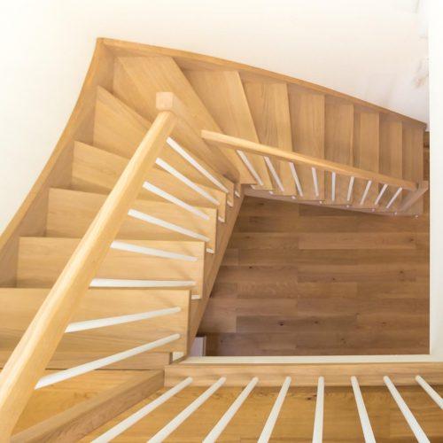 schody skandynawskie dębowe